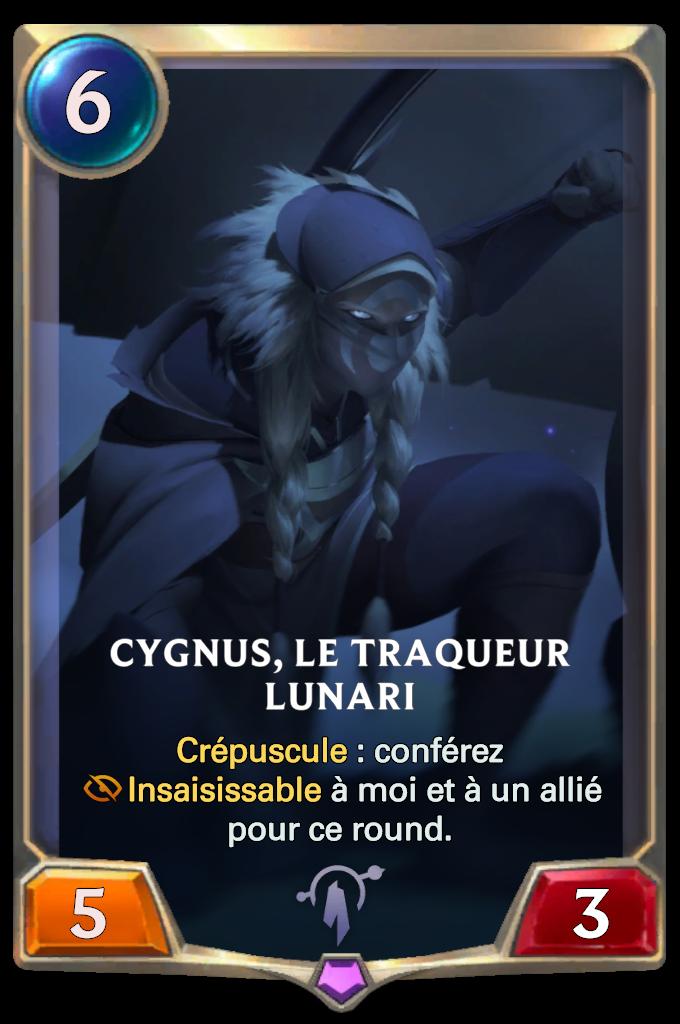 Cygnus, le traqueur lunari