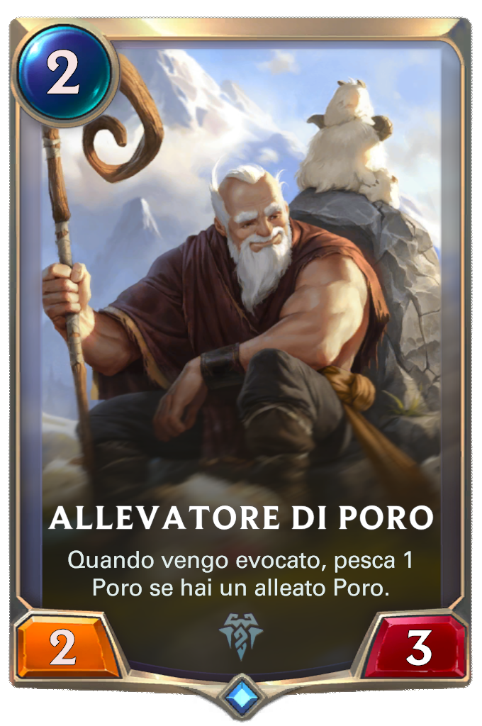 Legends of Runeterra patch Allevatore di Poro