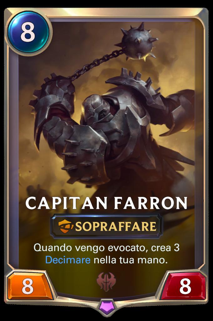 Legends of Runeterra patch Capitan Farron