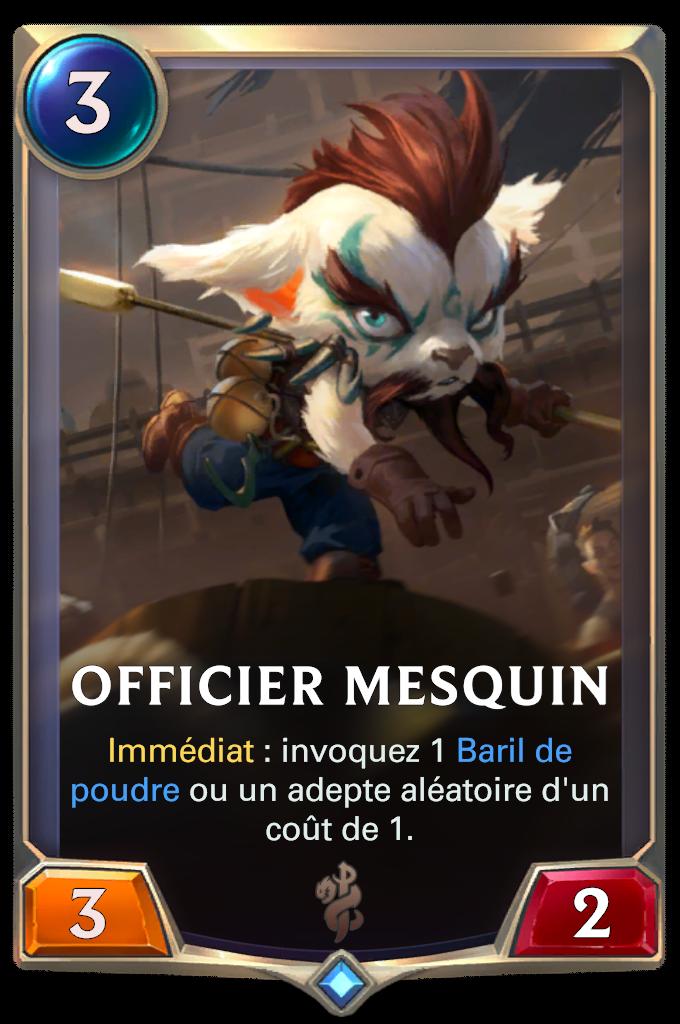 Officier mesquin