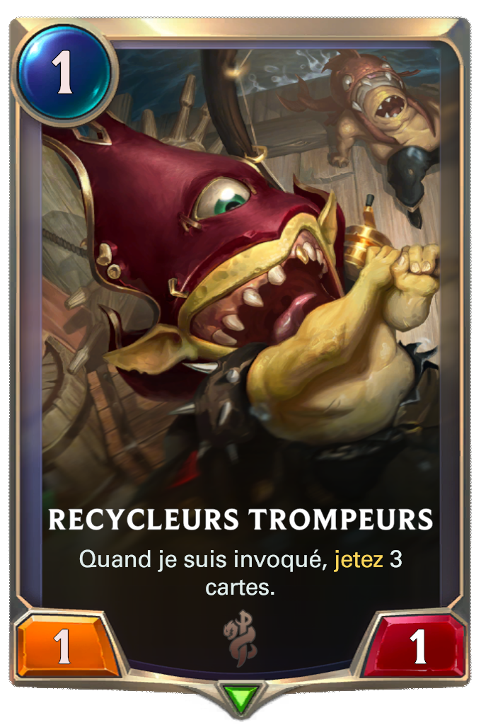 Recycleurs trompeurs
