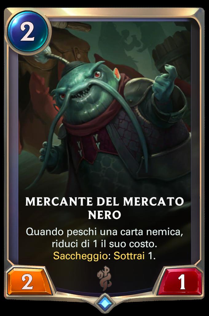 Legends of Runeterra patch Mercante del mercato nero